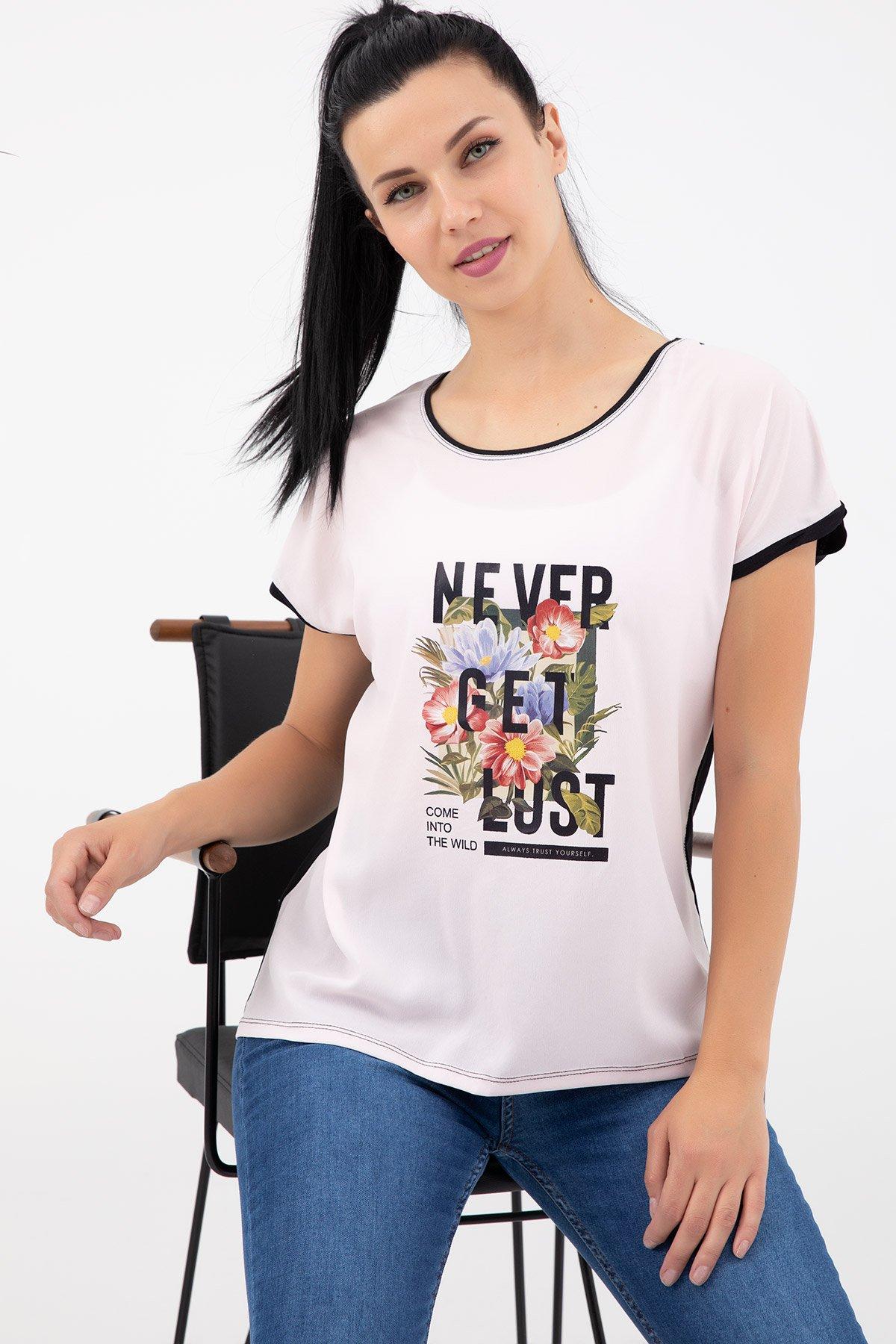 Baskılı T-shirt-41035181170