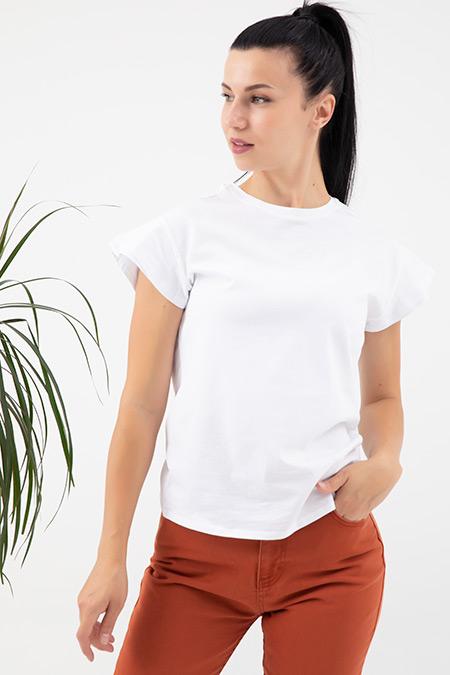 Sıfır Yaka T-Shirt-41035180871