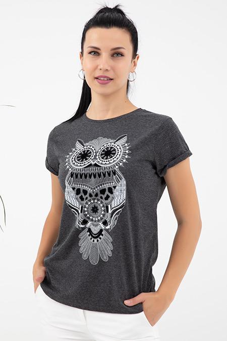 Baykuş Baskılı T-shirt-41035079234