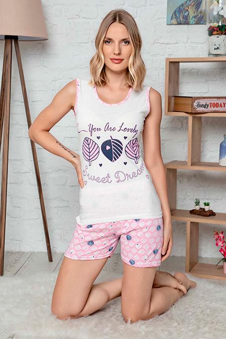 Kalın Askılı Şortlu Pijama Takımı-41035197760