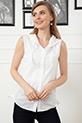 Kolsuz Kapşonlu Gömlek / Beyaz