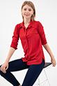 Sahte Cepli Düğmeli Gömlek / Kırmızı
