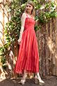 İp Askılı Elbise / Kırmızı