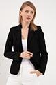 Cepli Blazer Ceket / Siyah