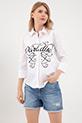 Baskılı Gömlek / Beyaz