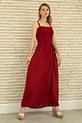 İp Askılı Elbise / Bordo