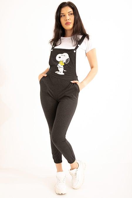 Snoopy Baskılı Ikılı Salopet-P-018900